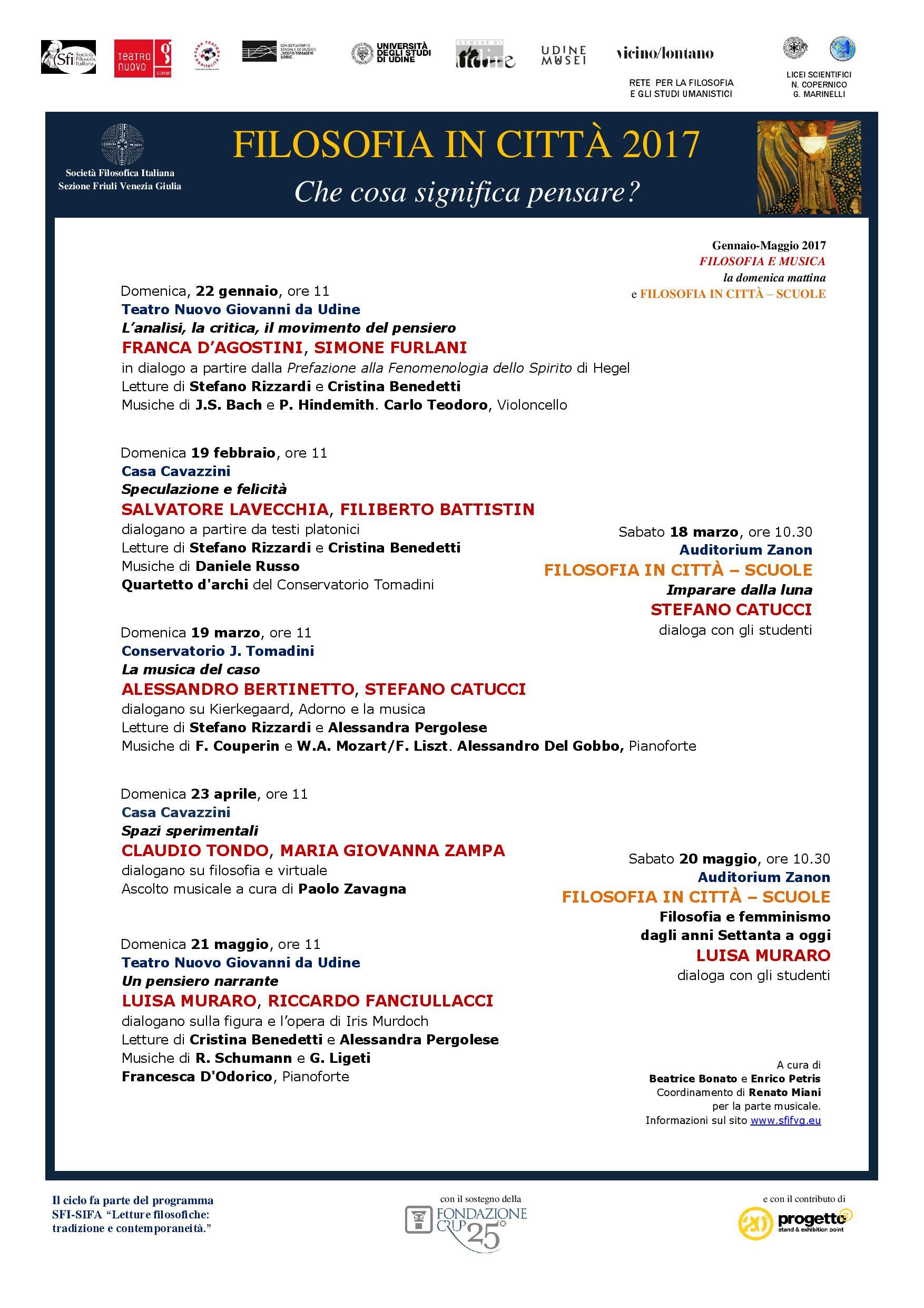 Locandina FILOSOFIA IN CITTA  2017