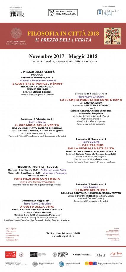 Locandina Filosofia in Citta 2018